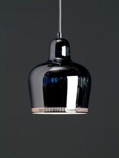 """""""I do not write, I build"""" - ALVAR AALTO - (Chrome Bell pendant lamp designed by Alvar Aalto in 1939)"""