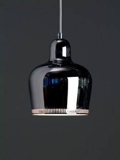 """I do not write, I build"" - ALVAR AALTO - (Chrome Bell pendant lamp designed by Alvar Aalto in 1939)"