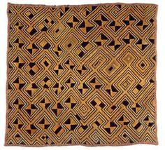 African, Congolese (Zairean), Shoowa Textile panel, woven raffia.