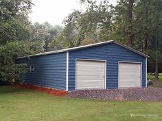 The price of this building is valid in North Carolina, South Carolina, Tennessee, and Virginia. Pricing may vary based on location and local building codes. Metal Storage Buildings, Wooden Storage Sheds, Metal Garages, Built In Storage, Metal Building Homes, Building Exterior, Building A House, Pole Barn Garage, Pole Barns