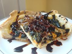 Sweet Potato, Spinach & Caramelized Onion Tart with Balsamic Reduction ...