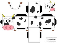 Image detail for -Free 3d Cow Paper Craft 3d Cow Paper Toy Pdf