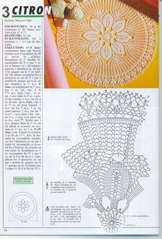 #_YELLOW Crochet Doily and Chart
