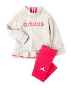 2d0359fbaed Adidas (Newborn/Infant Girls) Two-Piece Ruffled Sweatshirt & Leggings Set  Disney.