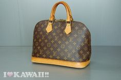 Authentic Louis Vuitton Monogram Alma Bag Hand Purse Boston Free Shipping! #LouisVuitton #HandBag