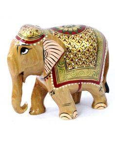 Elefante pintado en madera - Buscar con Google