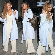 Meagan Good faux locs and shaved sides !!