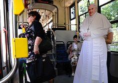 Viagem de Tram com o Papa Francisco