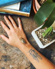 Boho Tattoos, Mini Tattoos, Cute Tattoos, Beautiful Tattoos, Nature Tattoos, Sea Life Tattoos, Black Tattoos, Tatoos, Cicada Tattoo