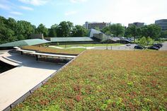 Green Roof on Frank Lloyd Wright's First Unitarian Church in Madison, Wisconsin