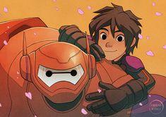 Immortals- Hiro Hamada and Baymax as superheroes Big Hero 6 Comic, Hiro Big Hero 6, Animation Film, Disney Animation, Disney And Dreamworks, Disney Pixar, Disney Cartoons, Big Heroes, Gogo Tomago