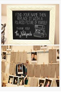 Polaroid Picture Guestbook Instructions Wedding by TheDoodleCoop