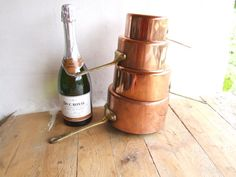 Set of Tinned Copper Cooking Pans  // by VintageRetroOddities