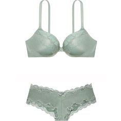 Victoria's Secret VERY SEXY Add-1½-Cups Push-Up Bra, Cheeky Set 34 D/... ($65) ❤ liked on Polyvore featuring intimates, bras, victoria secret bras, push up bra and victoria's secret