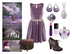 The Lilac Woods by the-girl-in-the-red-dress on Polyvore featuring polyvore fashion style H&M Report 1928 Temperley London Vera Wang Guerlain MAC Cosmetics clothing purple witch
