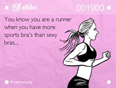 You know you are a runner.....