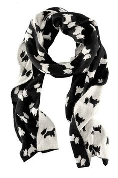 Fashion scarf, has been crafted from wool fabric, with a soft hand feel. Featuring rectangle shape, lovely dogs print to all over, warm and stylish.