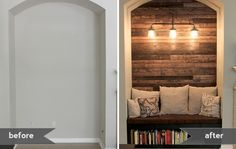 Empty Alcove to Reading Nook