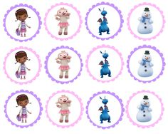 Doc McMuffins Printable Toppers | ... would be cute. I made a character set —> Doc McStuffins Toppers