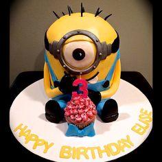 Sweety Cakes - Minion cake!  www.sweetycakes.ca
