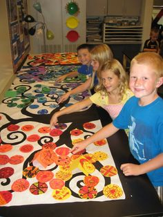 "Like the simple tree with the colorful circles. Jamestown Elementary Art Blog: Jamestown Elementary: ""Reaching our unique growth potential"""