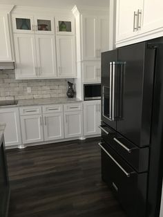 Best Black Stainless Kitchenaid Appliances White Cabinets 400 x 300