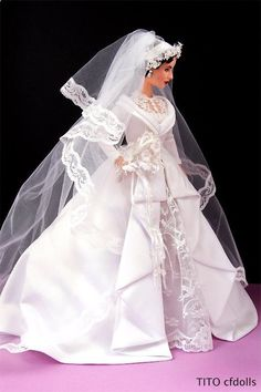 "Barbie Elizabeth Taylor ""Father of The Bride"" I have a habit of putting movies barbies on my board. Barbie Bridal, Barbie Wedding Dress, Wedding Doll, Barbie Dress, Barbie Clothes, Wedding Dresses, Barbie E Ken, Barbie Doll, Poppy Parker"
