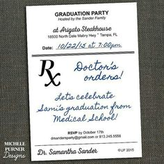 Digital file nurse graduation party invitation doctor graduation add a little extra flair to your next party with some fun pharmacy details filmwisefo