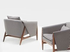 Fabric armchair with armrests GROSS by ENNE