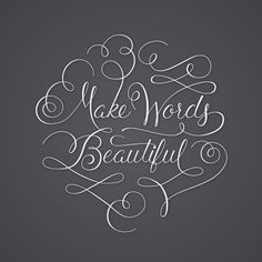 Beautiful Words - Digitized Hand Lettering