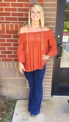 Fun In Flare Pants: Navy $46.00