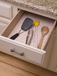 Drawer Liner Wrapping Paper Clear Contact Paper Put On Cardboard So It S Removable Genel Kitchen Cabinet Liners Kitchen Shelf Liner Cabinet Liner