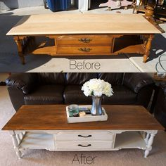 Coffee Table Redo  Hmmm, something to consider for a yucky old table!