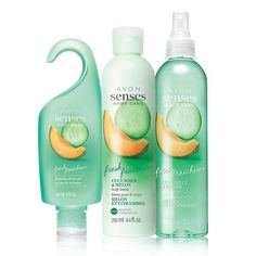 Enjoy a fresh feeling with the fragrance of crisp cucumber and juicy melon accented with lush violet leaf. This moisturizing set leaves skin cleansed and conditioned. A $24 value, this collection includes: • Shower Gel - 5 fl. oz $6 value • Body Lotion – 8.4 fl. oz. $8 value • Body Spray – 8.4 fl. oz. $10 value