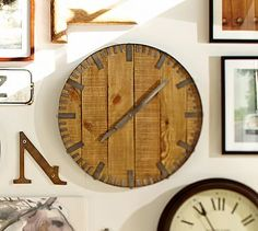 Rustic Wood Wall Clock #potterybarn