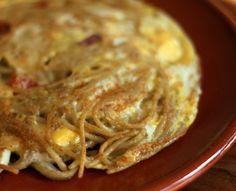 Spaghetti-omelet/restjesomelet | Baby & Dreumes Eetfestijn