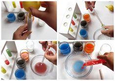 Простые химические опыты для детей. Смешивание жидкостей. Варим волшебное зелье и делаем слоистый коктейль
