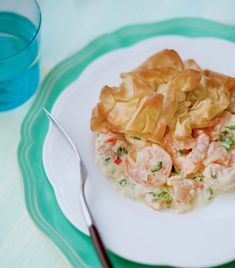 This quick fish pie is an easy supper dish and it's made with filo, which is a less fattening pastry than most.