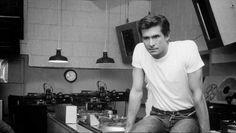 Anthony Perkins sitting in a kitchen Anthony Perkins, I Love Him, Actors, Mens Tops, T Shirt, Film, Kitchen, Fashion, Supreme T Shirt