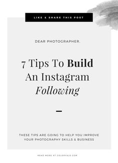 7 Tips To Build An Instagram Following