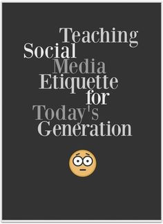 Social Media Etiquette is a lesser talked about discussion when it comes to introducing kids to technology, tablets, and cell phones. These are great tips for all ages to remember when using social media. ad