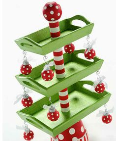 Easy DIY Christmas Crafts for Kids  - 3 Tier Christmas Candy Tray - Click pic for 45 Budget Friendly Holiday Decor Ideas