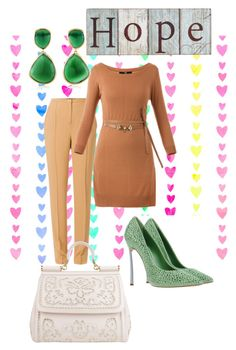 Hop e by giubagnols on Polyvore featuring polyvore, fashion, style, Casadei, Dolce&Gabbana, Monica Vinader, WALL, Abito and clothing