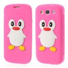 Galaxy S3 hot pink kannellinen pingviini silikonisuojus. Samsung Galaxy S3, Hot Pink, Phone Cases, Cases, Pink, Phone Case
