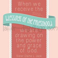 """LDS Young Women {Come, Follow Me} June lesson helps for """"How do I receive the power and blessings of the priesthood in my life?"""" Much more than just handouts! Do you need some extra help and fresh ideas for your lessons? Check out what Latter-Day Village has to offer @ www.LatterDayVillage.com"""