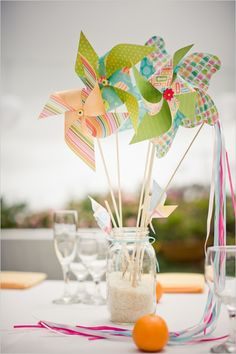 Fun centerpiece for the kiddy table.