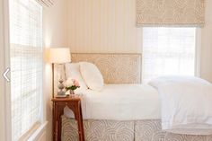 Make It Work: Beds in Corners- corner headboard
