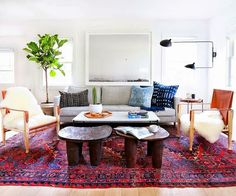This gorgeous three-bedroom California home is designed by Amber Lewis ofAmber Interiorsfor a young professional couple. The results? A fresh and modern abode with warm, global accents! Let's check