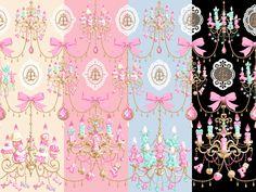 Angelic Pretty - Sweetie Chandelier Colorways #lolitafashion