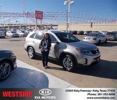 Happy Anniversary to Gustavo Ariza on your 2014 #Kia #Sorento from Rizkallah Elhallal and everyone at Westside Kia! #Anniversary